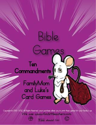 10 Commandments - Games