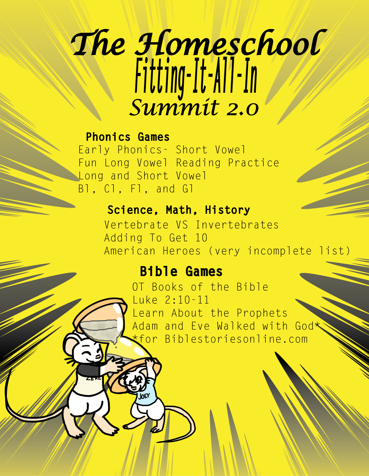 Welcome!  Homeschool Fit It All In 2.0 Summit