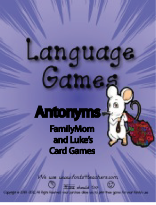 Antonym Card Games
