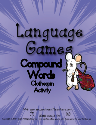 Compound Word Clothespin Activity