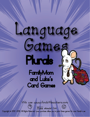 Plurals FamilyMom and Luke's Card Games