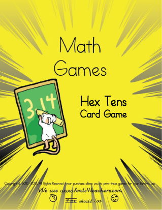 Hex-Tens (Hex shaped Math Card Game)
