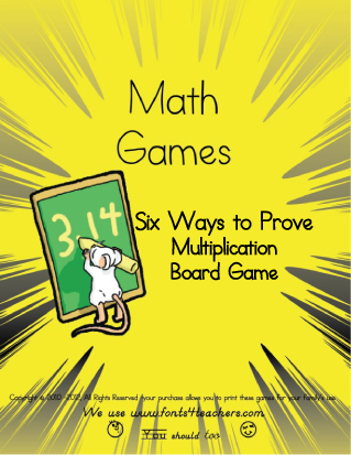 Six Ways to Prove Multiplication Board Game