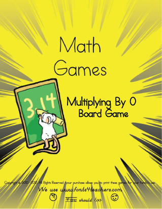 Multiplying By 0 Board Game