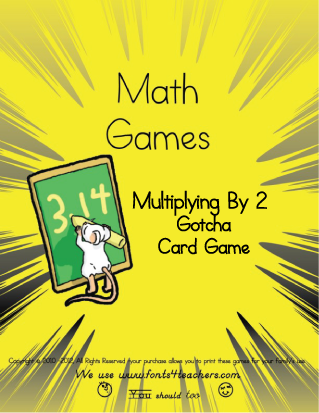 Multiplying By 2 Gotcha Card Game