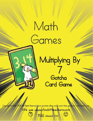 Multiplying By 7 Gotcha Card Game