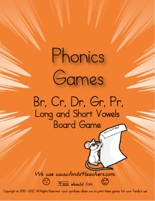 Quick moving Phonics practice students love to play over and over.