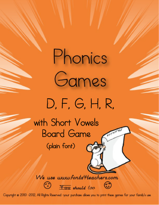 A phonics board game for beginners.