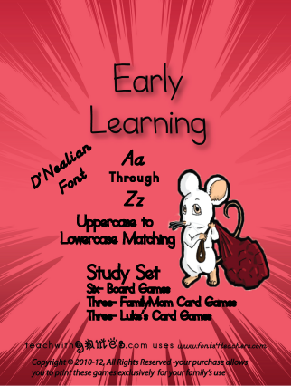 Free August 13th – 19th ~ Aa through Zz Case Matching FamilyMom Early Learning Game Set.