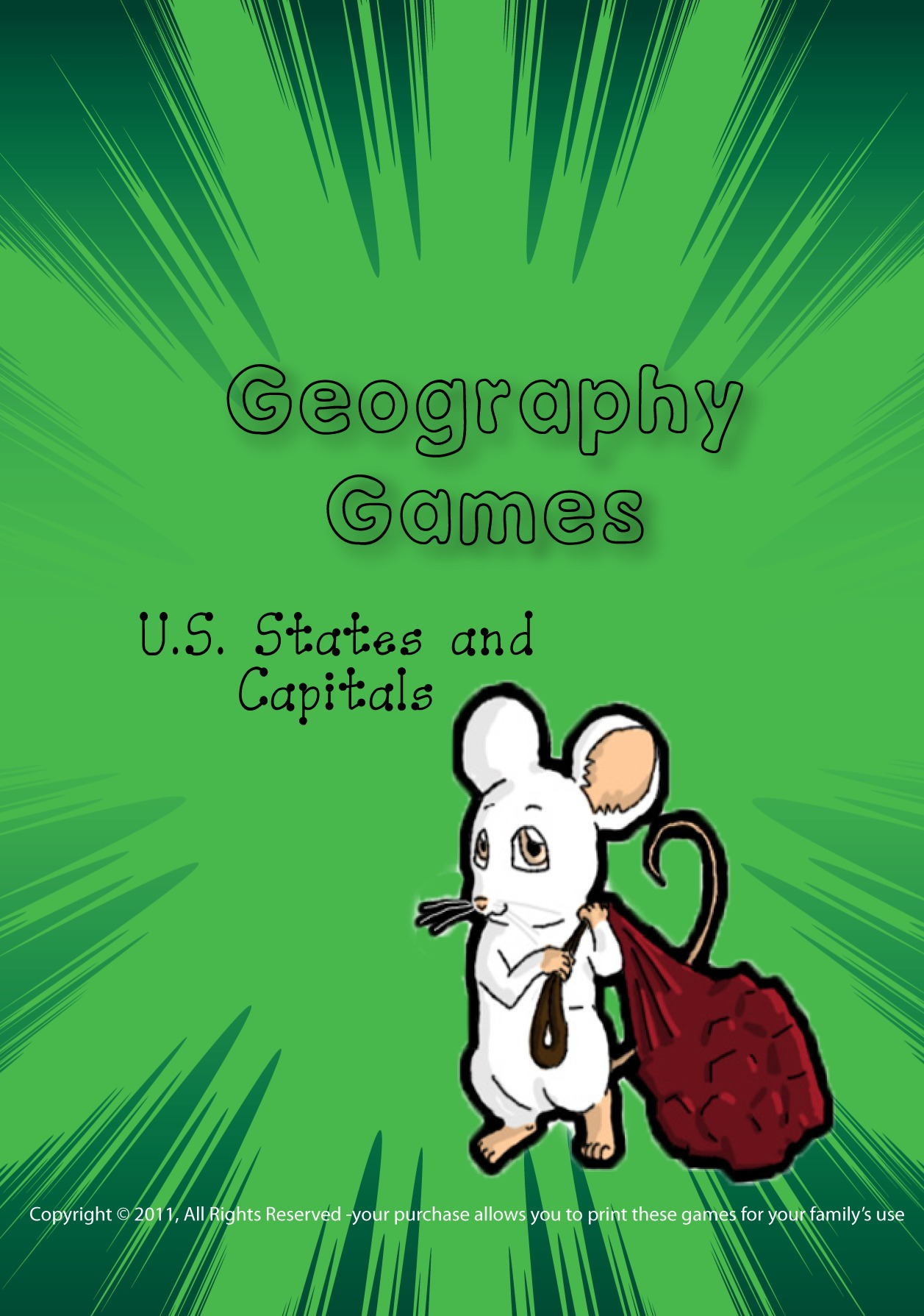 Memorize with Printable US States and Capitals Game.