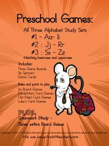 Preschool Games - Letters