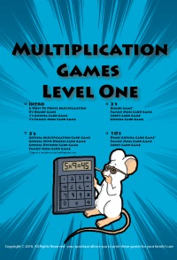 Printable Multiplication Games level one cover page.