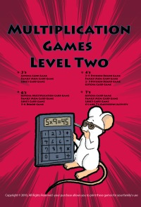 printable multiplication games level two cover page.