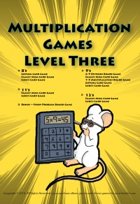 Printable Multiplication Games level three cover.