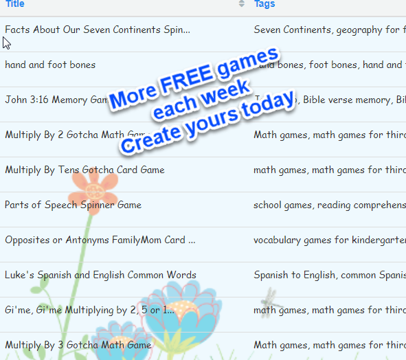 It is easy to use our Game Creator to memorize information. Free